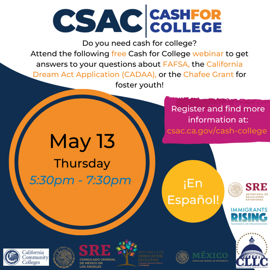 May 2021 Cash for College